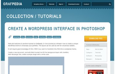 http://grafpedia.com/tutorials/create-a-wordpress-interface-in-photoshop