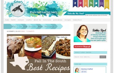 http://www.clumsycrafter.com/2012/11/fall-in-the-south-best-recipes/