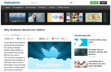 http://edudemic.com/2012/12/why-students-should-use-twitter/