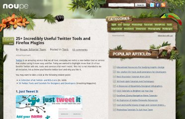 http://www.noupe.com/tools/25-incredibly-useful-twitter-tools-and-firefox-plugins.html