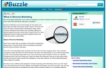 http://www.buzzle.com/articles/what-is-reverse-marketing.html