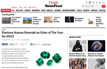 http://newsfeed.time.com/2012/12/10/pantone-names-emerald-as-color-of-the-year-for-2013/