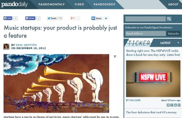 http://pandodaily.com/2012/12/10/music-startups-your-product-is-probably-just-a-feature/