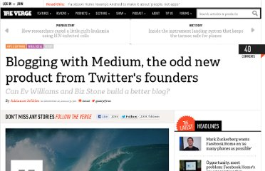 http://www.theverge.com/2012/12/10/3735458/medium-twitter-ev-williams-biz-stone