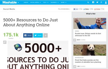 http://mashable.com/2007/09/08/5000-resources-to-do-just-about-anything-online/
