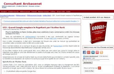 http://www.arobasenet.com/2012/12/quand-author-rank-remplace-pagerank/