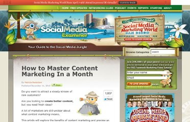 http://www.socialmediaexaminer.com/how-to-master-content-marketing-in-a-month/
