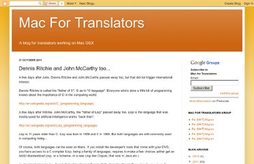 http://mac4translators.blogspot.com/2011/10/dennis-ritchie-and-john-mccarthy-too.html