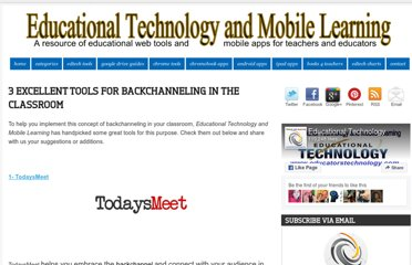 http://www.educatorstechnology.com/2012/12/3-excellent-tools-for-backchanneling-in.html