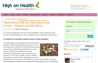 http://www.highonhealth.org/what-nobody-tells-you-about-maca-root-powder-dangers-and-side-effects/