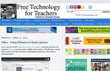 http://www.freetech4teachers.com/2012/04/video-using-flubaroo-to-grade-quizzes.html#.UMdKJcXA9X0