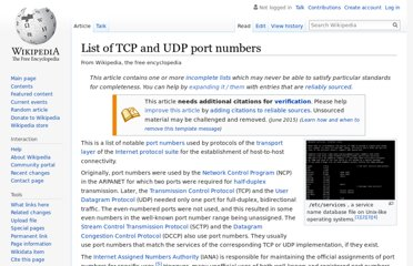 http://en.wikipedia.org/wiki/List_of_TCP_and_UDP_port_numbers