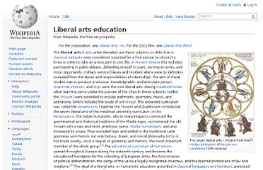 http://en.wikipedia.org/wiki/Liberal_arts_education