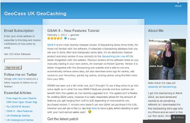 http://geocass.wordpress.com/2012/02/01/gsak-8-new-features-tutorial/