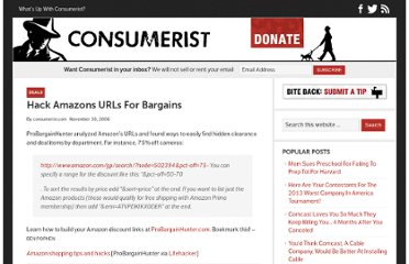 http://consumerist.com/2006/11/30/hack-amazons-urls-for-bargains/