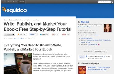 http://www.squidoo.com/writing-your-ebook