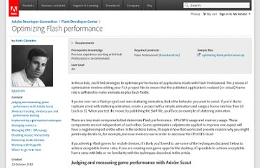 http://www.adobe.com/devnet/flash/articles/optimizing-flash-performance.html