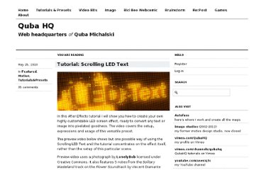 http://qubahq.com/2010/05/tutorial-scrolling-led-text/