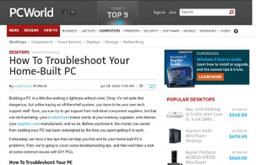 http://www.pcworld.com/article/202038/how_to_troubleshoot_your_home_built_pc.html