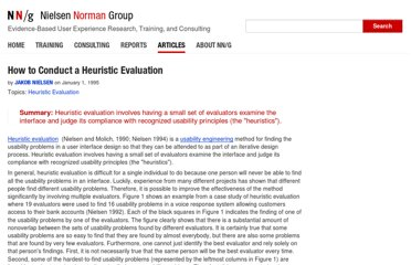 http://www.nngroup.com/articles/how-to-conduct-a-heuristic-evaluation/