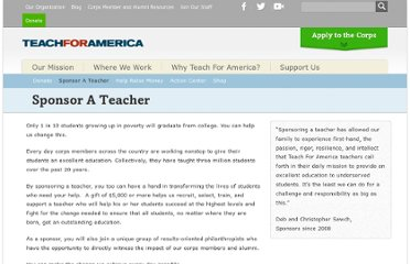 http://www.teachforamerica.org/support-us/sponsor-a-teacher