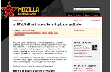 https://hacks.mozilla.org/2010/02/an-html5-offline-image-editor-and-uploader-application/