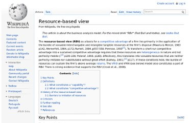 http://en.wikipedia.org/wiki/Resource-based_view