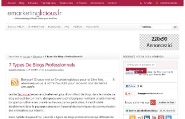 http://www.emarketinglicious.fr/blogging/7-types-de-blogs-professionnels