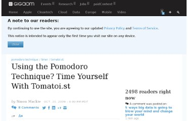 http://gigaom.com/2009/10/20/using-the-pomodoro-technique-time-yourself-with-tomatoi-st/