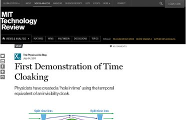 http://www.technologyreview.com/view/424682/first-demonstration-of-time-cloaking/