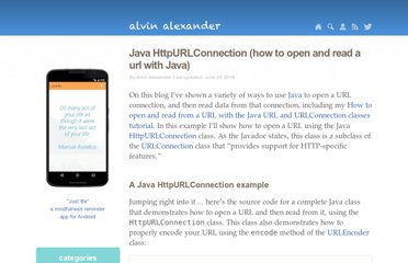 http://alvinalexander.com/blog/post/java/how-open-url-read-contents-httpurl-connection-java