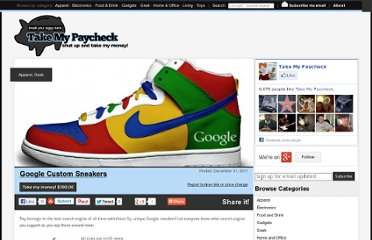 http://www.takemypaycheck.com/apparel/google-custom-sneakers/