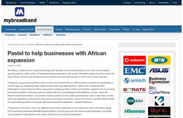 http://companies.mybroadband.co.za/blog/2012/10/01/pastel-to-help-businesses-with-african-expansion/