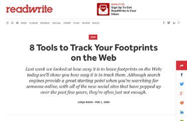 http://readwrite.com/2009/02/01/8_tools_to_track_your_footprin