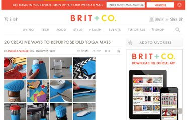 http://www.brit.co/20-creative-ways-to-repurpose-old-yoga-mats/
