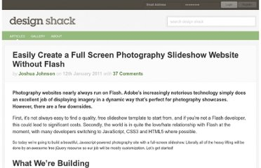 http://designshack.net/articles/javascript/easily-create-a-full-screen-photography-slideshow-website-without-flash/