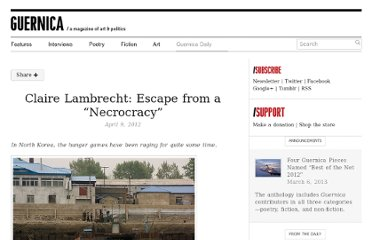 http://www.guernicamag.com/daily/claire-lambrecht-escape-from-a-necrocracy/