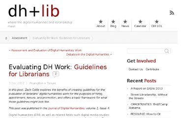http://acrl.ala.org/dh/2012/12/03/evaluating-dh-work-guidelines-for-librarians/