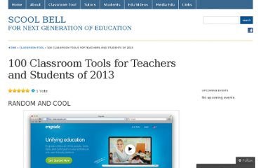 http://scoolbell.wordpress.com/2012/12/11/100-tech-tools-for-teachers-and-students/