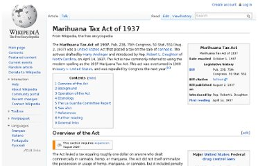 http://en.wikipedia.org/wiki/Marihuana_Tax_Act_of_1937
