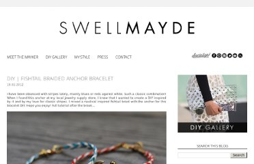 http://www.swellmayde.com/2012/10/diy-fishtail-braided-anchor-bracelet.html