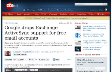 http://www.zdnet.com/google-drops-exchange-activesync-support-for-free-email-accounts-7000008836/
