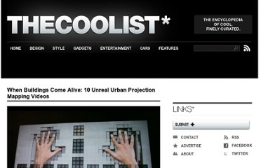 http://www.thecoolist.com/when-buildings-come-alive-10-unreal-urban-projection-videos/