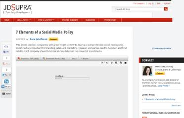 http://www.jdsupra.com/legalnews/7-elements-of-a-social-media-policy-04612/
