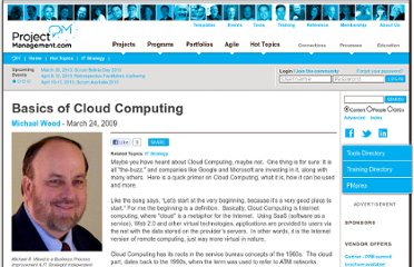 http://www.projectmanagement.com/articles/248270/Basics-of-Cloud-Computing