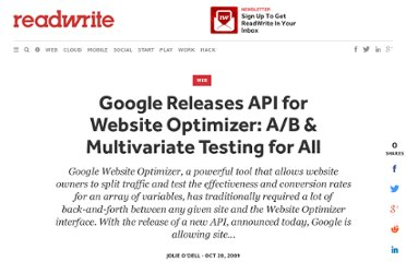 http://readwrite.com/2009/10/20/google_releases_api_for_website_optimizer_ab_multi