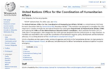 http://en.wikipedia.org/wiki/United_Nations_Office_for_the_Coordination_of_Humanitarian_Affairs