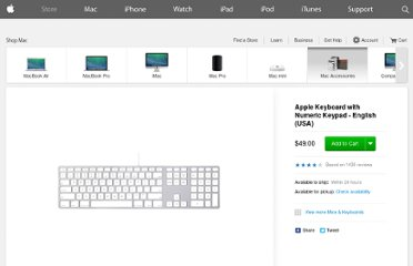 http://store.apple.com/us/product/MB110LL/B/apple-keyboard-with-numeric-keypad#
