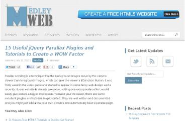http://medleyweb.com/web-dev/15-useful-jquery-parallax-plugins-and-tutorials/