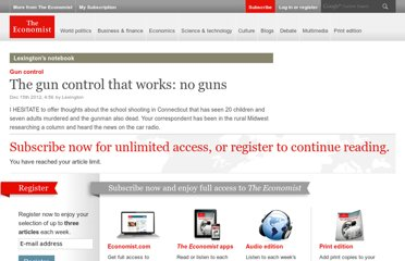 http://www.economist.com/blogs/lexington/2012/12/gun-control